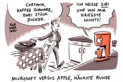 karikatur-schwarwel-siri-spracherkennung-it-apple-iphone-handy-cortana-microsoft-alexa-amazon-now-google