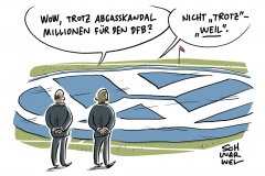 karikatur-schwarwel-vw-volkswagen-auto-sponsor-dfb-fussball-nationalmannschaft