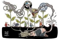 karikatur-schwarwel-auto-automobil-konzern-kartell-wettbewerb-bwm-daimler-vw-volkswagen-audi