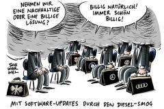 Diesel-Gipfel: Autohersteller sagen Software-Updates für fünf Millionen Diesel zu
