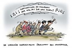 schwarwel-karikatur-streik-arbeitskampf-nahverkehr-eisenbahn