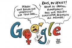 Google: Mitarbeiter nach sexistischem Manifest gefeuert, US-Arbeitsministerium mutmaßt Diskriminierung: Bezahlt Google Frauen weniger Gehalt?