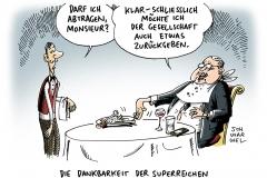 karikatur-schwarwel-superreich-reich-reichtum-arm-armut
