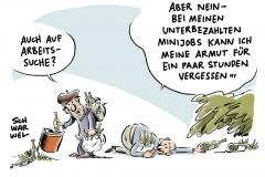 Arm Armut Reich Reichtum Minijob