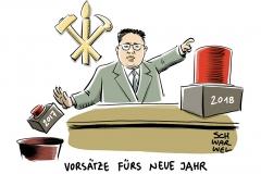 """Neujahrsansprache von Kim Jong Un """"Der Atomknopf ist immer auf meinem Tisch"""""""
