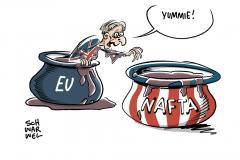 Nach hartem Brexit: Großbritannien erwägt angeblich Beitritt zur Nafta