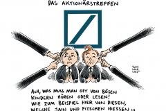 schwarwel-karikatur-deutsche bank-negativschlagzeilen