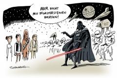 karikatur-schwarwel-star-wars-linke-krawalle-gummigeschosse