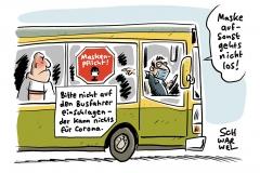 Maskenpflicht im ÖPNV: Gewalt gegen engagierte Busfahrer