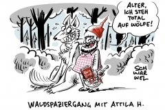 """Waldspaziergang mit Attila H.: """"Spiegel"""" gibt Rechtsaußen Platz für Eigenwerbung"""