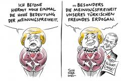 karikatur-schwarwel-merkel-erdogan-böhmermann-meinungsfreiheit