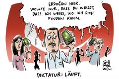 karikatur-schwarwel-erdogan-tuerkei-diktatur-erdogan-schaltet-sich-in-handys-ein-putsch