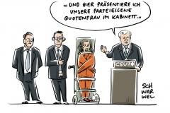 CSU-Minister von Bayern nach Berlin: CSU-Kabinettsliste zeigt, Frauen in Partei kaum gefördert