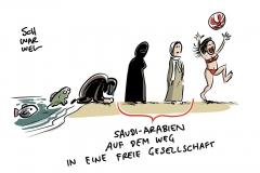 Saudi-Arabien und das Ende des Schleierszwangs: Frauen feiern neue Freiheit