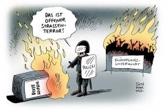karikatur-schwarwel-strassenterror-terror-rechte-gewalt-demo-leipzig