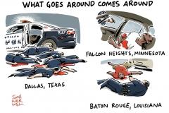 karikatur-schwarwel-dallas-us-polizei-polizeigewalt-englisch
