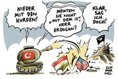 karikatur-schwarwel-tuerkei-erdogan-is-islamischer-staat-kurden