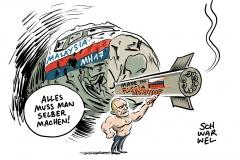 karikatur-schwarwel-mh17-rakete-russland-ukraine-putin