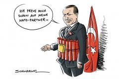 """Krieg in Syrien: Erdoğan droht US-Truppen mit """"osmanischer Ohrfeige""""; Donnerstag US-Außenminister Tillerson zu Besuch in Ankara"""