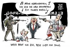 School shootings: Trump schlägt vor, die Lehrer zu bewaffnen