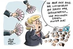 Militärschlag gegen Syrien: Merkel befürwortet US-Angriff, Mehrheit der Deutschen dagegen