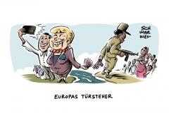 EUropäische Flüchtlingspolitik: Afrikanische Diktaturen als Türsteher Europa