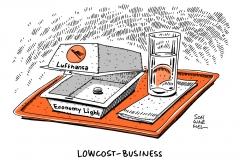 schwarwel-karikatur-lufthansa-lowcost-business