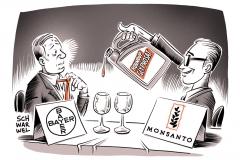 karikatur-schwarwel-monsanto-bayer-glyphosat-genmanipuliert