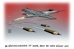 schwarwel-karikatur-nato-ruestungsindustrie-frankreich-angriffe