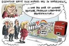 karikatur-schwarwel-g20-gipfel-hamburg-merkel-putin-erdogan-trump-einhorn