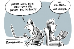 Streit um Digitalpakt: Länder stoppen Grundgesetzänderung