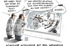 schwarwel-karikatur-kuenstliche-intelligenz-roboter-seniorenbetreuung