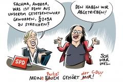 """Neue Drehung beim Verbot der """"Werbung"""" für Schwangerschaftsabbrüche: SPD setzt bei §219a STGB jetzt doch auf Kompromiss mit Union"""