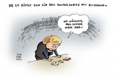 schwarwel-karikatur-merkel-eu-handelskrieg-russland