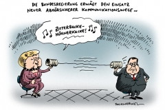 schwarwel-karikatur-merkel-gabriel-abhoerskandal-obama-usa
