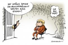 schawrwel-karikatur-spd-albig-merkel-ministerpraesident