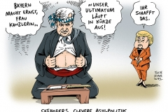 schwarwel-karikatur-bayern-seehofer-merkel