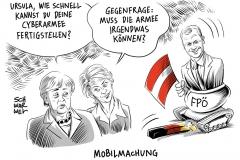 karikatur-schwarwel-merkel-vonderleye-armee-bundeswehr-fpö-hofercyber