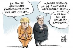 karikatur-schwarwel-bundestagswahlkanzlerin-merkel-seehofer-cdu-csu-obergrenze-fluechtlinge