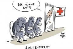 karikatur-schwarwel-martin-schulz-merkel-wahl-wahlkampf-cdu-csu-spd-fdp
