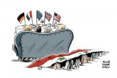 karikatur-schwarwel-syrien-krieg-luftangriff-merkel-assad-putin-trump-politik