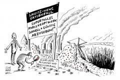 karikatur-schwarwel-vattenfall-braunkohle-braunkohletagebau-energiewende