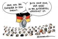 karikatur-schwarwel-auto-autos-automobil-konzern-autobauer-kartell-wettbewerb-vw-volkswagen