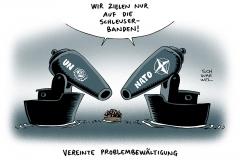 schwarwel-karikatur-schleuser-nato-militaereinsatz