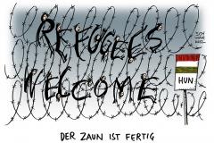 schwarwel-karikatur-refugees-wilcome-willkommenskultur