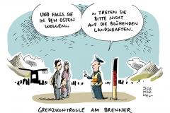 schwarwel-karikatur-brenner-passkontrolle-fluechtlinge-