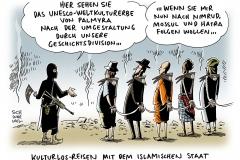 schwarwel-karikatur-islamischer-staat-kulturlos-reisen-kulturerbe