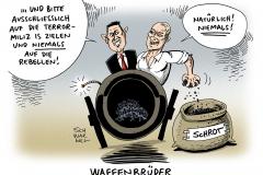 schwarwel-karikatur-syrien-krieg-kampf-terrormiliz-russland-putin-usa-obama