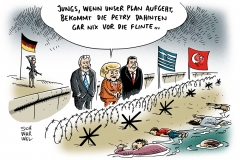 karikatur-schwarwel-merkel-petry-seehofer-gabriel-grenze-fluechtlinge