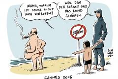 karikatur-schwarwel-burkini-verbot-strand-frankreich-cannes-terrorangst